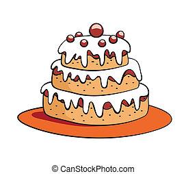 עוגה, ציור היתולי