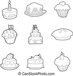עוגה, קבע, סיגנון, תאר, איקון