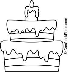 עוגה קטנה, איקון, סיגנון, תאר