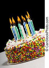 עוגה של יום ההולדת, נרות