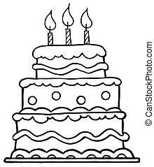 עוגה של יום ההולדת, תאר