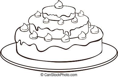 עוגה, תאר