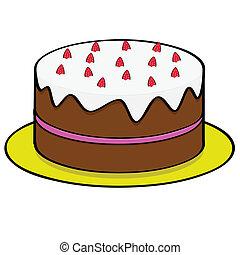 עוגה, תות שדה, שוקולד