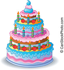 עוגה, 1, קשט, יום הולדת