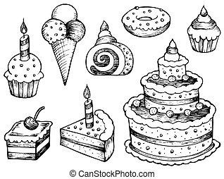 עוגות, ציורים, אוסף