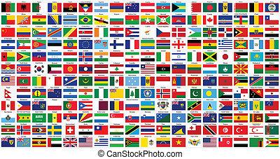 עולם, אלפביתי, דגלים