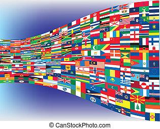 עולם, דגלים