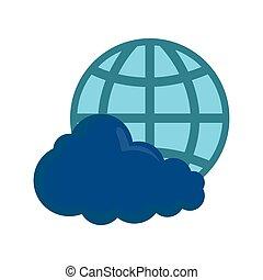עולם, ענן לבן, רקע, לחשב