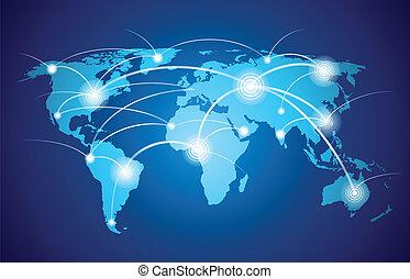 עולם, רשת גלובלית, מפה