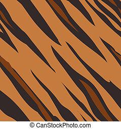עור, תבנית, הדפס, seamless, tiger, לרעף, בעל חיים