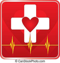 עזור, בריאות רפואית, סמל, ראשון