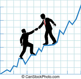 עזור, עסק, חברה, שרטט, גידול, התחבר