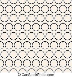 עיגולים, התפשט, גיאומטרי, pattern., seamless