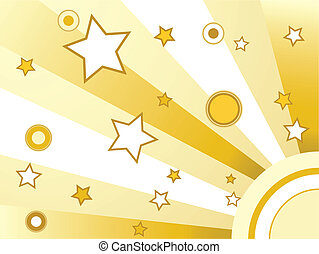 עיגולים, כוכבים, רקע