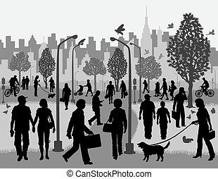 עיר חונה, אנשים יומיומיים