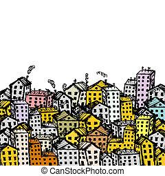 עיר, עצב, שלך, רקע, רשום