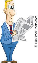 עיתון, איש עסקים, לקרוא