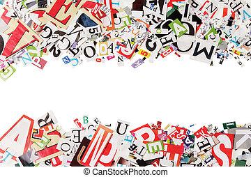 עיתונים, מכתבים, רקע