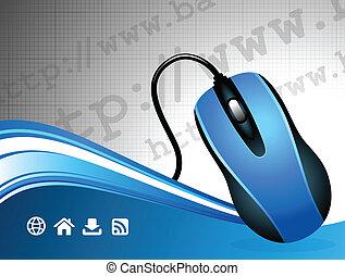עכבר, מחשב, רקע, תקשורת, גלובלי, אינטרנט