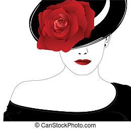 עלה, אישה, כובע