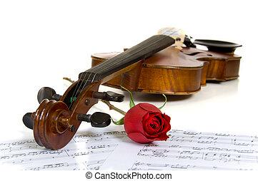 עלה, דף, כינור, מוסיקה