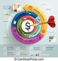 עלה, חץ, עסק, infographics