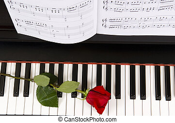 עלה, פסנתר, מוסיקה של דף