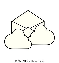 ענן, לבן, שלח, רקע, לחשב