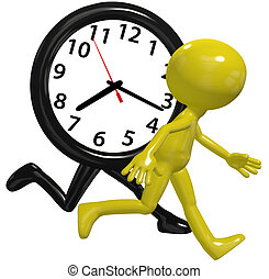 עסוק, רוץ, שעון, בן אדם, רוץ זמן, מהר, יום