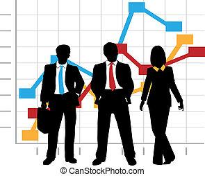 עסק, גרף, חברה, טבלה של מכירות, גידול, התחבר