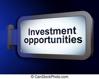 עסק, הזדמנויות, רקע, לוח מודעות, השקעה, concept: