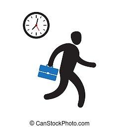 עסק, העשה, בן אדם, זמן, מהר, למהר