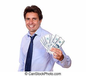 עסק, כסף, , פדה, אטרקטיבי, להחזיק, איש