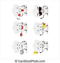 עסק, ציור היתולי, סוגים, שונה, כובע של טבח, אופי, emoticons