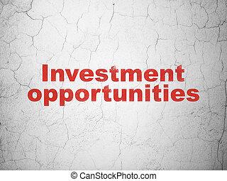 עסק, קיר, הזדמנויות, רקע, השקעה, concept: