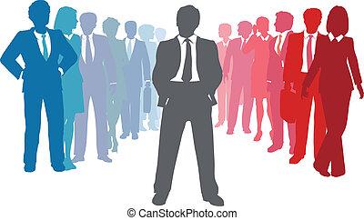 עסק של אנשים, מנהיג, התחבר, חברה