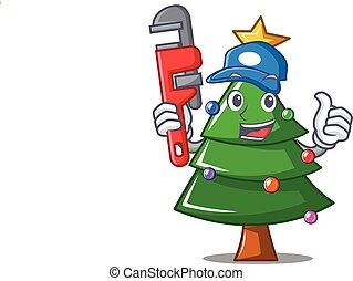עץ, אינסטלטור, אופי, חג המולד, ציור היתולי