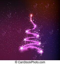 עץ, כל, editable, חג המולד, קל