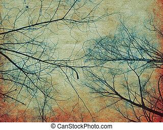 עץ, נייר, ענפים, ראטרו