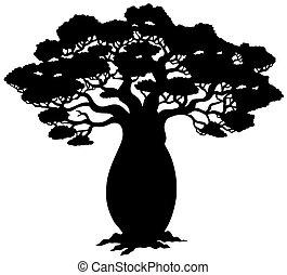 עץ, צללית, אפריקני