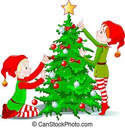 עץ, קשט, שדונים, חג המולד