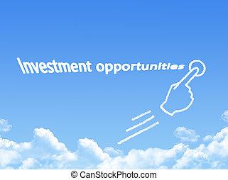 עצב, הזדמנויות, מסר, ענן, השקעה