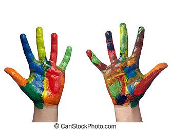עצב, העבר, אומנות, ילד, צבע, צבע