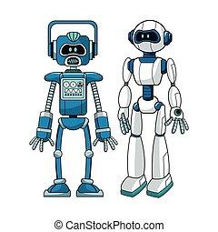 עצב, רובוטים, עתידי, הנדס