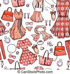 עצב, bags., style., design., כחול, תחתונים, תבנית, seamless, טקסטורה, אביזרים, לבן, חזייה, אישה, color., זוהר, תכשיט, אוביקטים, התלבש, אין סופי, רומנטי, אור