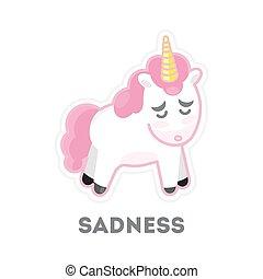 עצוב, הפרד, unicorn.