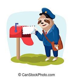 עצלות, למסור דואר