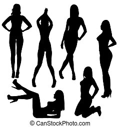 ערום, מיני, צלליות, קבע, נשים