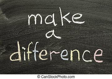 עשה, הבדל