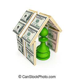 עשה, חבול, כסף., גג, ירוק, מתחת